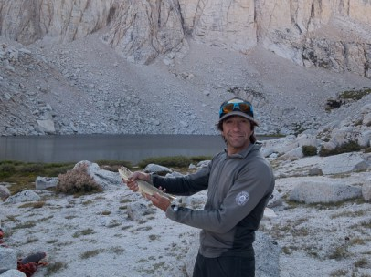 Rainbow trout caught with one cast from Upper Boy Scout Lake