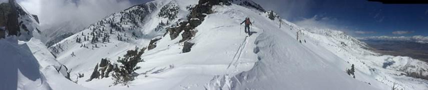 E face Kearsarge Peak on 2/22