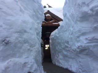 Mammoth snow banks