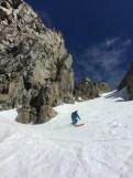 Howie skiing in Fern Grotto