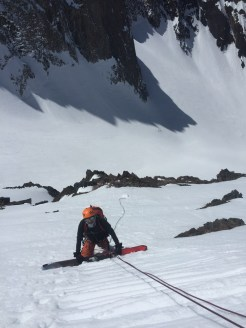 Ski mountaineering training on Little Morrison with Nayan 4/2