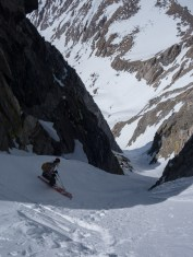 Dragon Peak N Couloir with Glen Plake, early May
