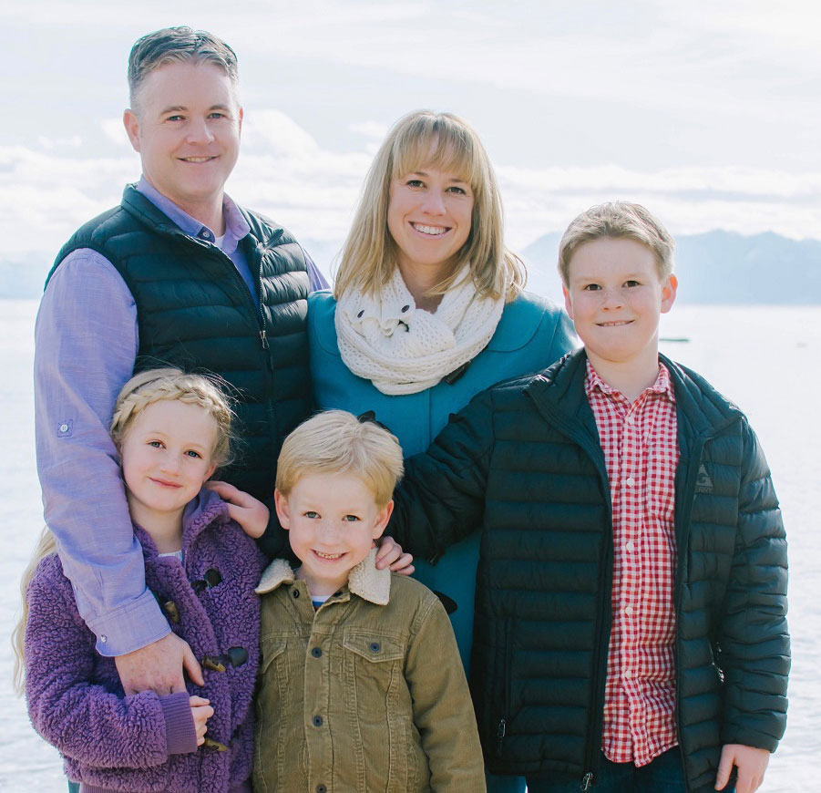 Ryan Russell and family - image - provided by the candidate.