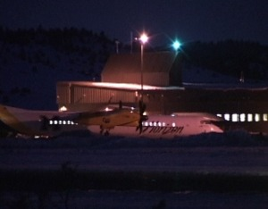 Mammoth Airport at Night
