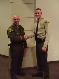 (l-r) Sheriff Ralph Obenberger and new Deputy Wesley Hoskins.