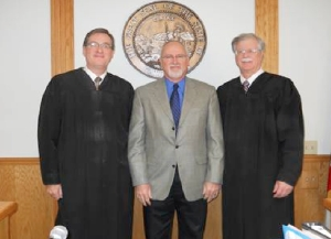 (l-r) Judge Brian Lamb, Commissioner David Knowles and Presiding Judge Dean Stout.