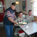 American Legionnaire Chuck Kilpatrick with Post 118 serving two area CHP officer supporting WWP