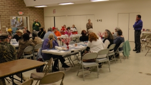 Sheriff Bill Lutze and HHS Director Jean Turner talked to seniors in January.