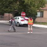 Crosswalk and crossing guard