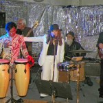 Sandy and High Country Band jamming that Saturday Night Fever-Elson Trinidad, Sandy and Clayton Anderson, Mark Flippin, Victor Silvas, Bart Jarnigan