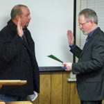 Jim Ellis sworn in by City Adminstrator Jim Tatum Photo by Charles James