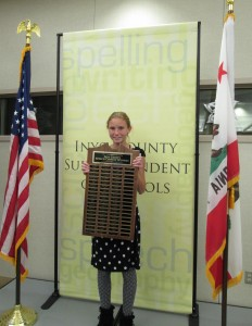 Haley Yarborough of Round Valley, 1st place, 2016 Inyo County Speech Contest
