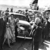 California Gov Merriam fires a shotgun to mark the opening of the new Lone Pine to Death Valley road, courtesy ECM