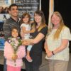 Round Valley JESD Supt. Karen Marshal with Honeree Rebecca Aquilera and family