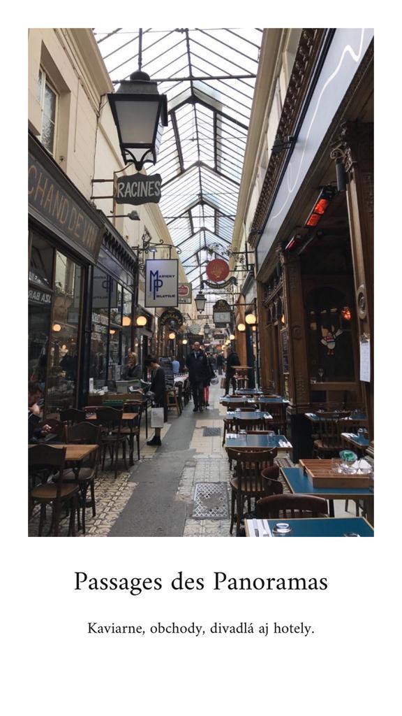 leto v Paríži Passage des Panoramas