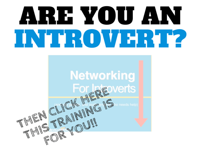 Free Training: Networking for Introverts