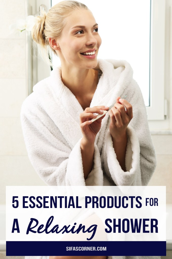 relaxing shower essential products