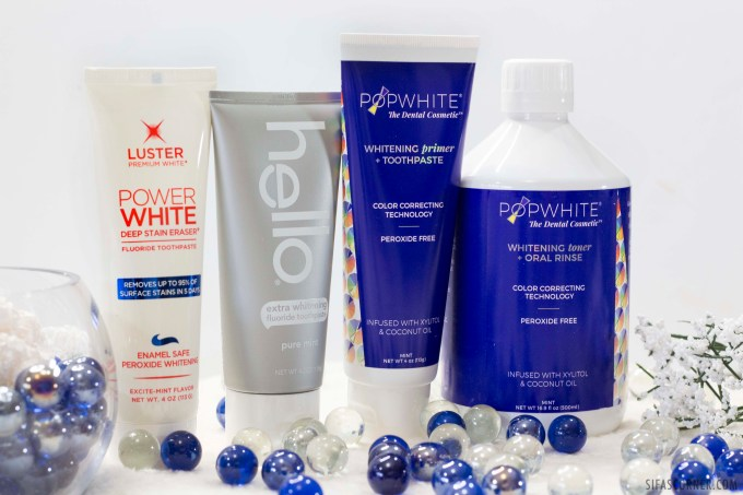 4 teeth whitening products