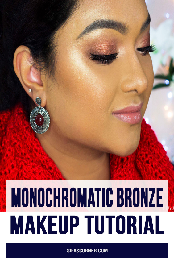 Monochromatic Bronze Makeup tutorial