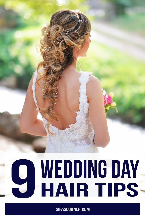wedding day hair tips
