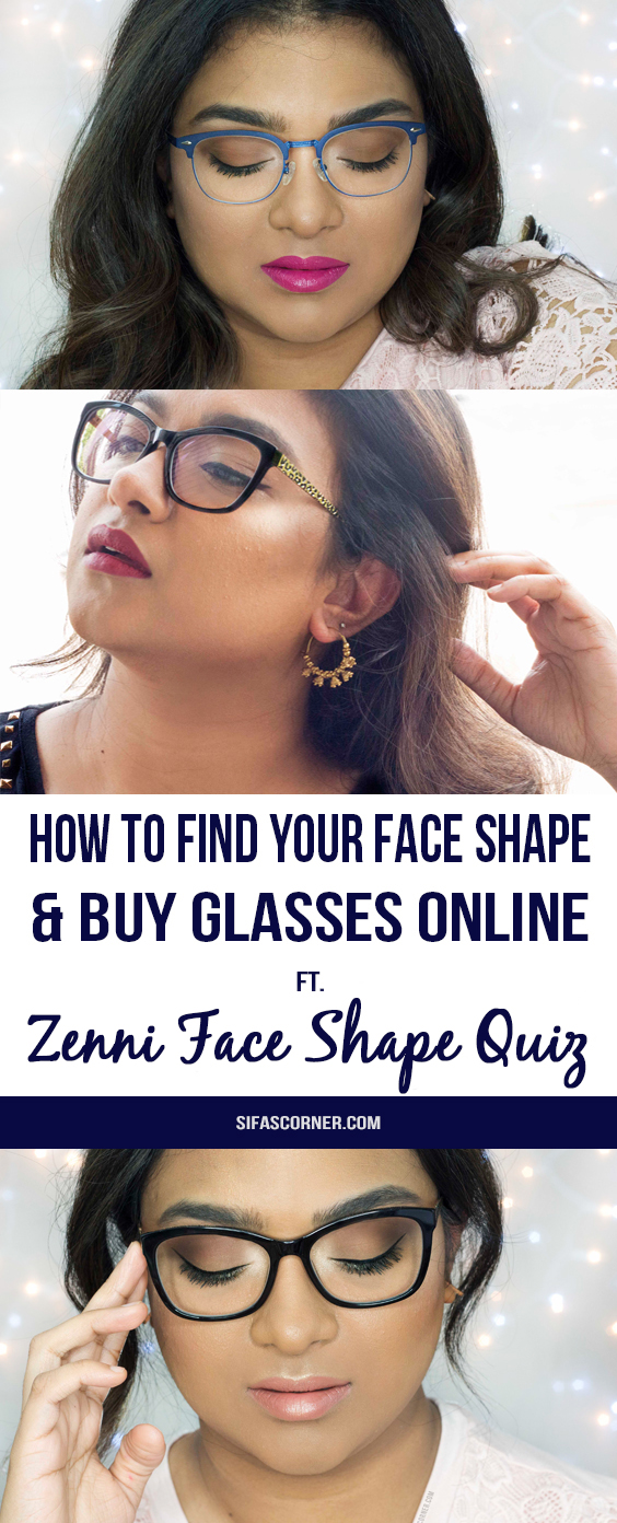 how to find glasses for heart shaped face with ZENNI face shape quiz