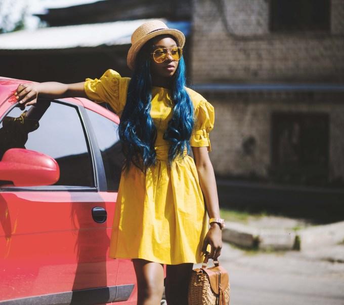 hair color ideas- bold blue
