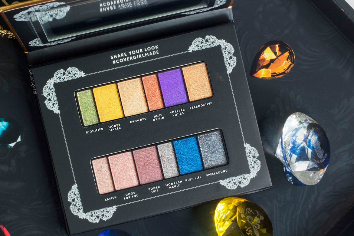 COVERGIRL REIGN Eyeshadow Palette Review Swatch
