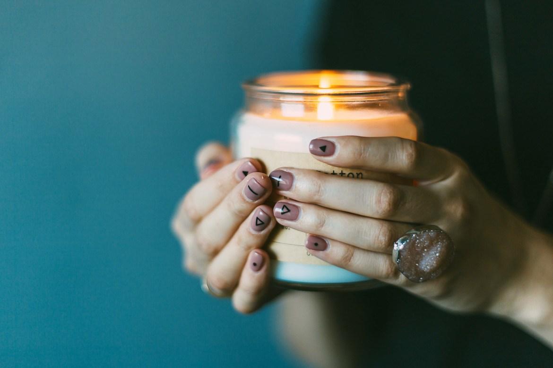 blush colored manicure
