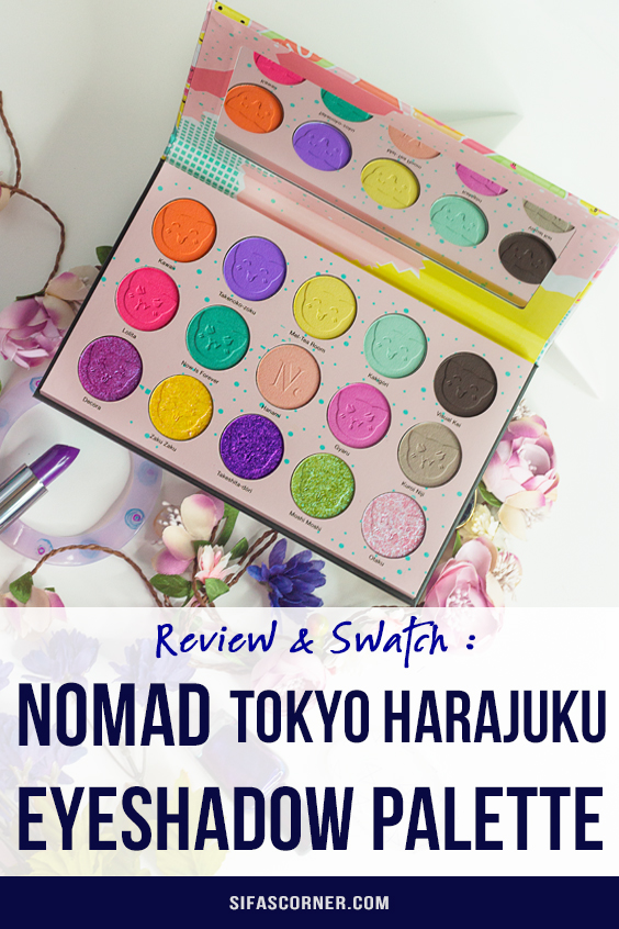 nomad tokyo harajuku palette swatch and review