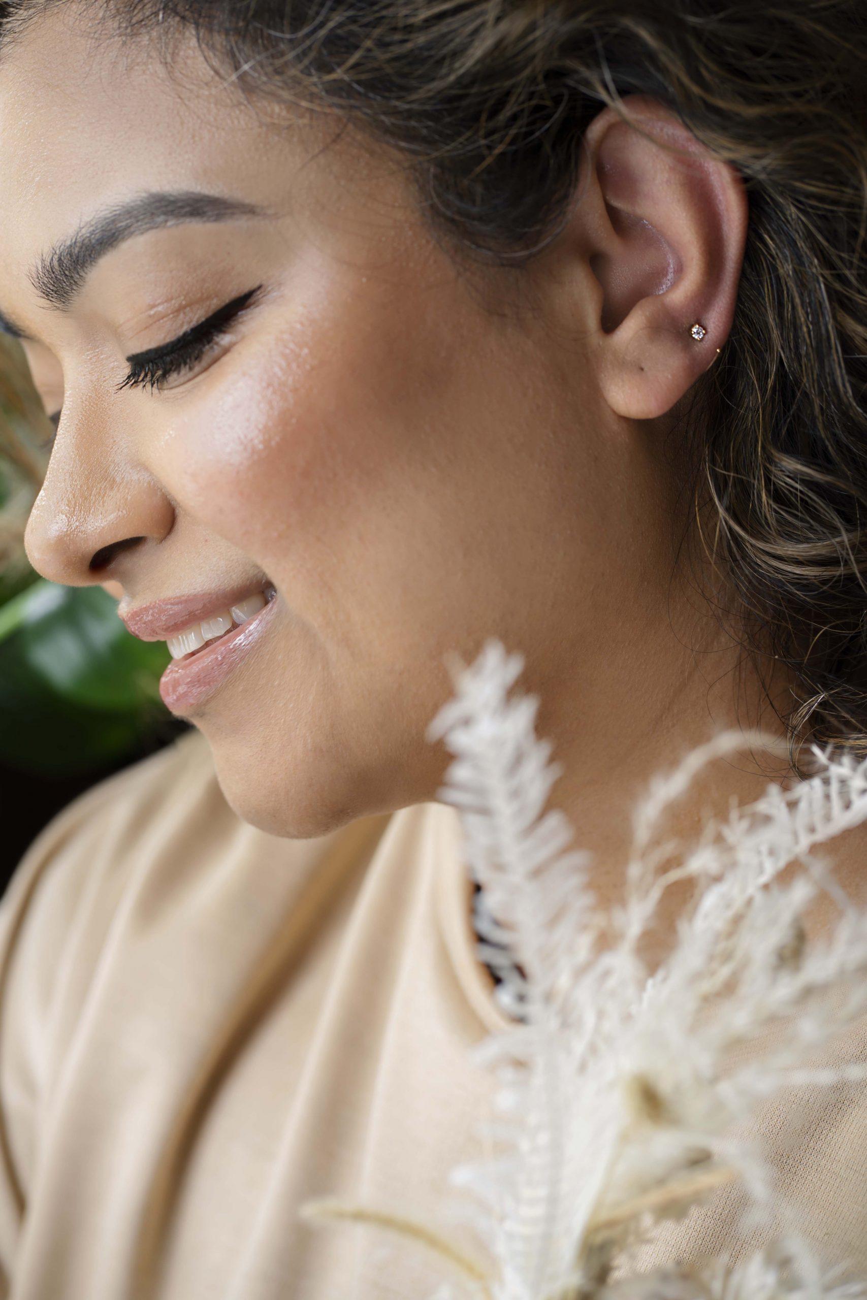 Giselle Classic Half-Moon 14k Gold Hoop Earrings