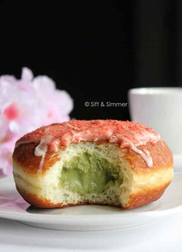 Strawberry Matcha Doughnut