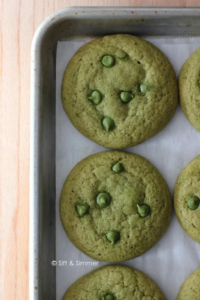 Matcha Chocolate Chip Cookie