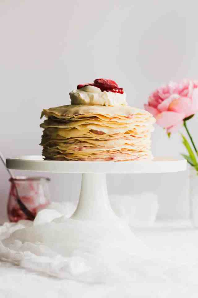 Rose Strawberry Hibiscus Mille Crepe Cake2