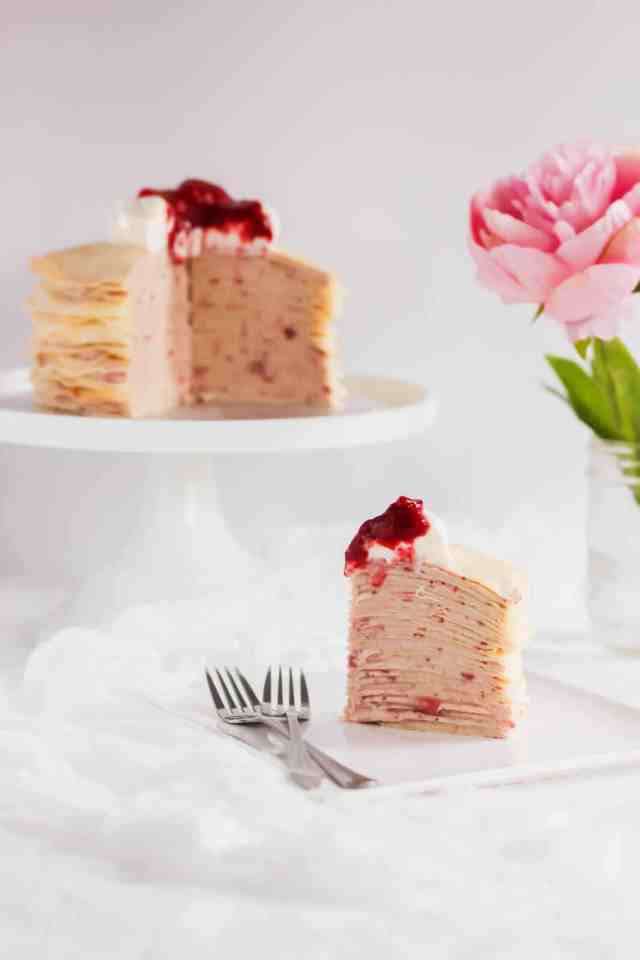 Rose Strawberry Hibiscus Mille Crepe Cake4