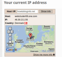 Where is How to Blog Info server located?