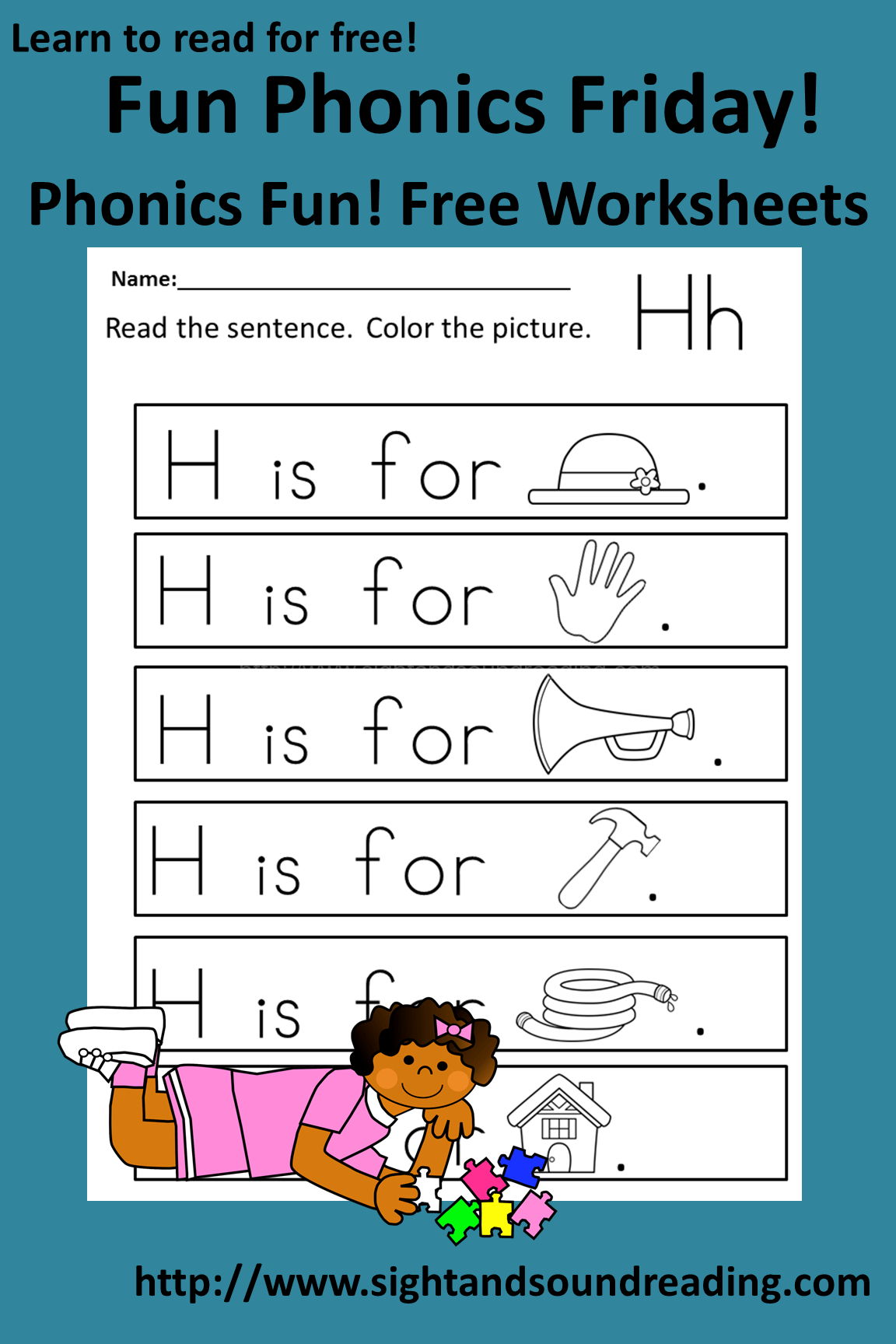 Free Phonics Friday The Letter Hh