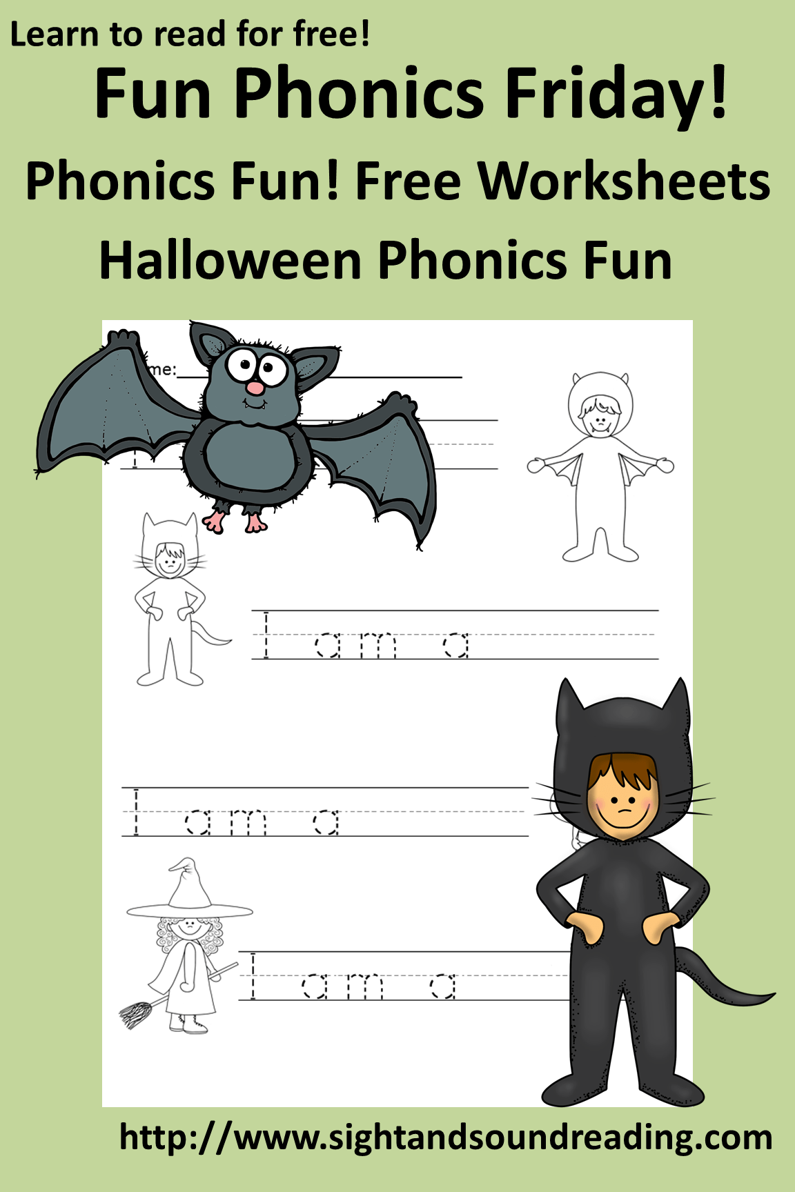 Free Phonics Worksheet For Halloween Fun Activity For
