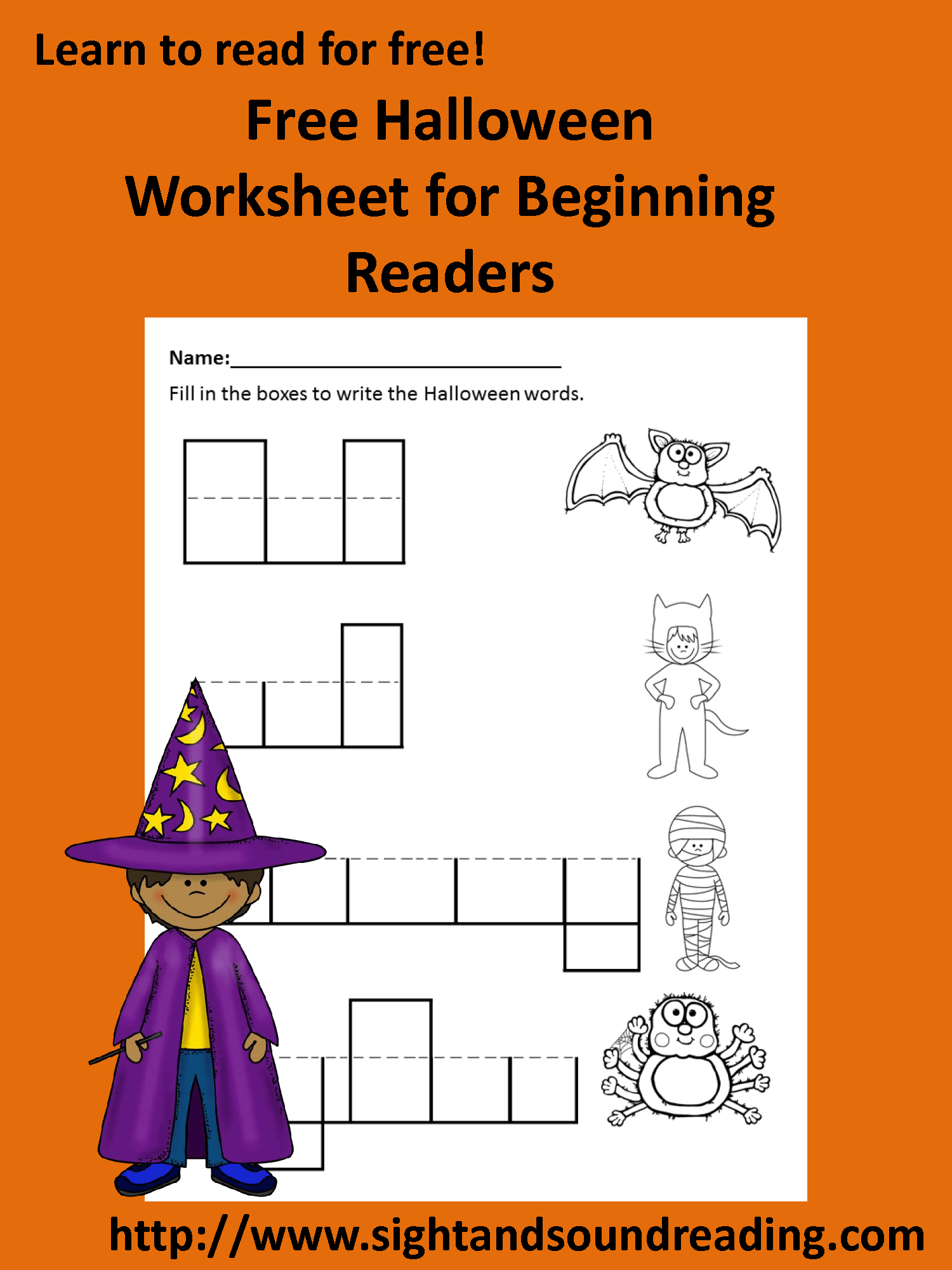 Free Halloween Worksheet For Kindergarten Or First Grade