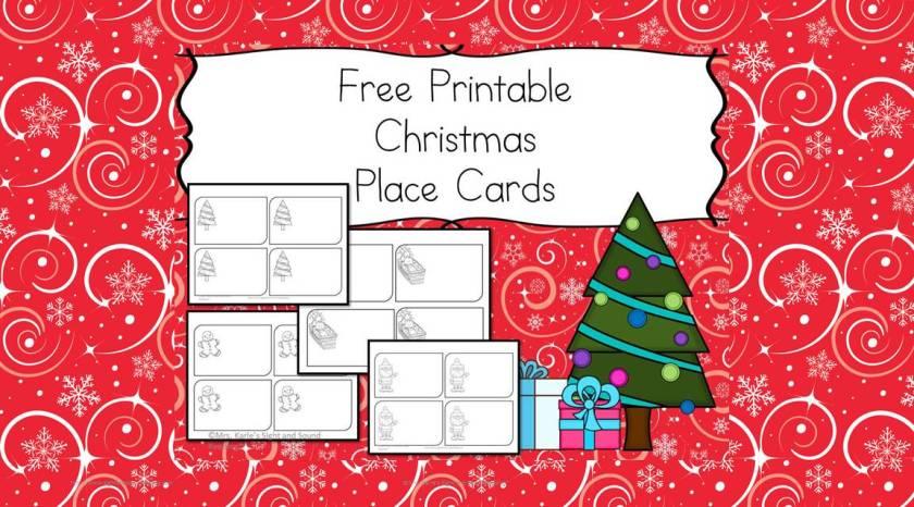 Printable Christmas Place Cards Printables Regarding Table Template