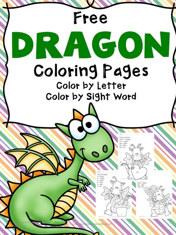 free dragon coloring pages # 66