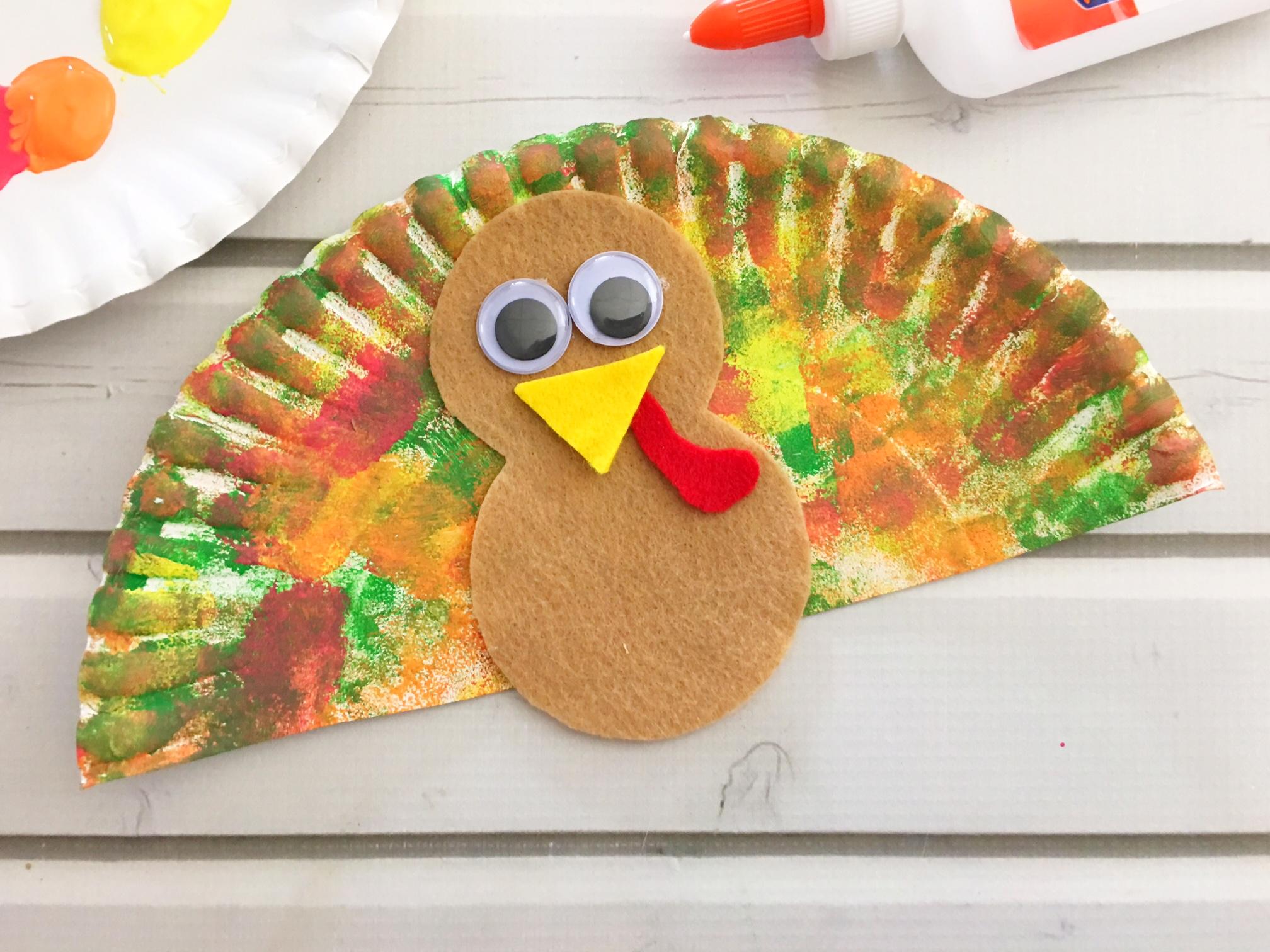 Paper Plate Turkey Craft Make Learning Fun