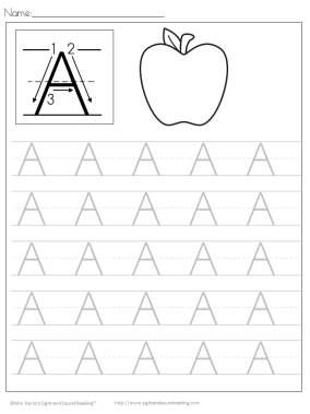 Printable Handwriting Worksheets For Kindergarten