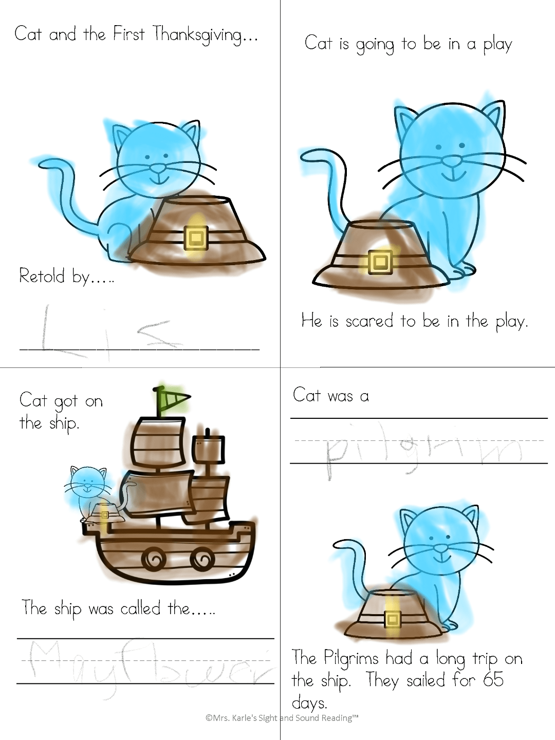 Pete The Cat Thanksgiving Kindergarten Lesson Plan