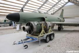 SAAB J32 Lansen Swedish Air Force with RM5/Avon engine