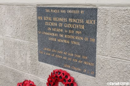 Ulster Tower Somme WWI