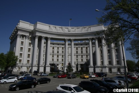 Kiev Ministry of Foreign Affairs Soviet Architecture