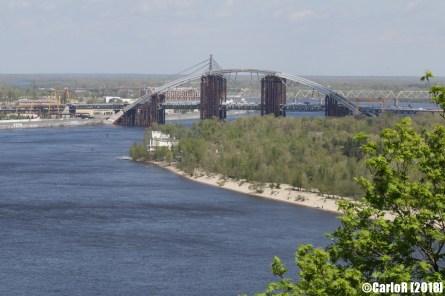 Kiev Soviet Architecture Panorama Dnepr River