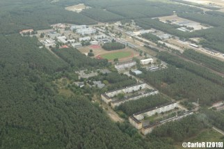 Holzdorf Air Base former NVA East Germany (DDR) Base - Aerial View Picture Luftbild