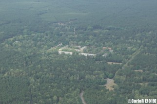 Brand Abandoned Soviet Air Base Nuclear Bunker East Germany (DDR) - Aerial View Picture Luftbild