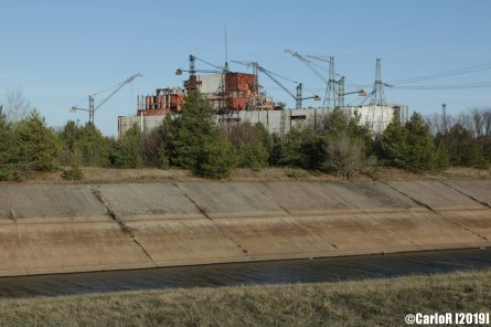 Contaminated Power Plant View Monument Cold War Chernobyl Nuclear Plant Exclusion Zone Pripyat
